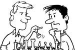 Tranh tô màu 2 người bạn chơi cờ vua