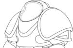 Tranh tô màu bộ đồ của phi hành gia