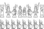 Tranh tô màu các quân cờ trong cờ vua