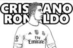 Tranh tô màu cầu thủ bóng đá ronaldo