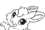 Tranh tô màu chị thỏ xinh đẹp