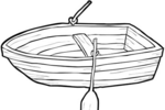 Tranh tô màu chiếc thuyền gỗ nhỏ