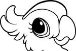 Tranh tô màu con vẹt dễ thương