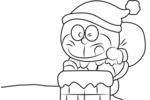 Tranh tô màu doraemon vào lễ giáng sinh