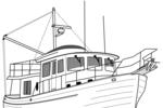 Tranh tô màu du thuyền