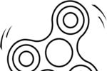 Tranh tô màu fidget spinner
