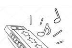 Tranh tô màu kèn harmonica