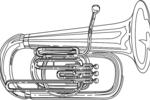Tranh tô màu kèn tuba