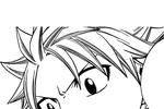 Tranh tô màu khuôn mặt vui vẻ của natsu
