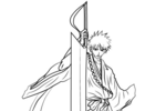 Tranh tô màu kurosaki ichigo trong bleach