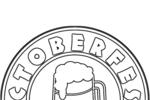 Tranh tô màu logo của lễ hội oktoberfest