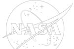 Tranh tô màu logo của nasa