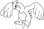 Tranh tô màu lugia trong pokemon