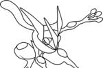 Tranh tô màu mega greninja pokemon