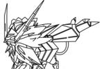 Tranh tô màu nekurozuma bờm hoàng hôn