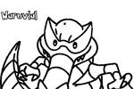 Tranh tô màu pokemon hăm dọa waruvial