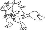 Tranh tô màu pokemon hồ ly tinh zoroark