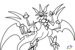 Tranh tô màu pokemon necrozma ultra