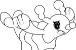Tranh tô màu pokemon thần tượng oshamari