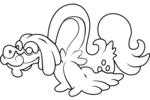 Tranh tô màu pokemon ung dung jijiron