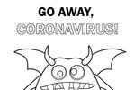 Tranh tô màu quái vật virus corona