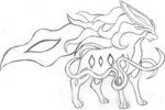 Tranh tô màu suicune trong pokemon