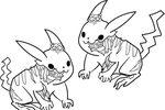 Tranh tô màu thây ma pikachu