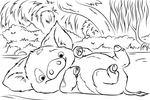 Tranh tô màu Chú Lợn Pua