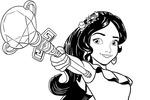 Tranh tô màu Công Chúa Elena và Gậy Phép