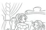 Tranh tô màu Công Chúa Elena và Isabel