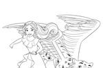 Tranh tô màu Công Chúa Elena và Thú Cưỡi