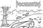 Tranh tô màu Công Chúa Pocahontas Đang Chạy