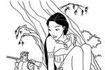Tranh tô màu Công Chúa Pocahontas Lẩn Trốn