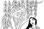 Tranh tô màu Công Chúa Pocahontas và Cây Thần