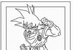 Tranh tô màu Goku Tức Giận