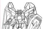 Tranh tô màu Gundam