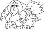 Tranh tô màu yareyutan trong pokemon