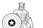 Tranh Tô Màu Đội Trưởng Mĩ Captain America, tải bộ tranh Tô Màu Đội Trưởng Mĩ Captain America về máy tính điện thoại