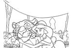 Tranh Tô Màu Công Chúa Jasmine, tải bộ tranh Tô Màu Công Chúa Jasmine về máy tính điện thoại