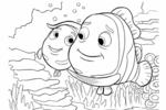 Tranh Tô Màu Đi Tìm Nemo, tải bộ tranh Tô Màu Đi Tìm Nemo về máy tính điện thoại