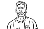 Tranh Tô Màu Messi, tải bộ tranh Tô Màu Messi về máy tính điện thoại